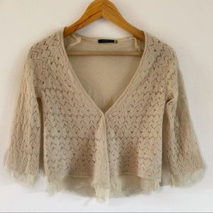 Anthropologie Leifsdottir Wool and Silk Cardigan